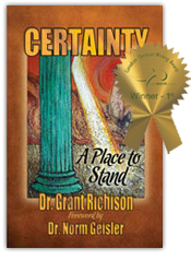 Award Winning Book Design - Certainty a place to stand
