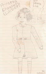 Drawing of Princess Elizabeth as a child