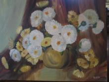 Acrylic Painting of Flowers by Diane Roblin-Lee