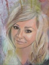 """Mariah"" Acrylic Painting with digital retouch by Diane Roblin-Lee"
